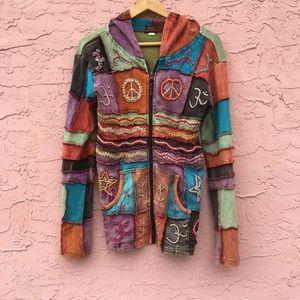 Rising International Embroidered Full Zip Jacket